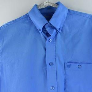 Wrangler Mens Blue Long Sleeve Medium Shirt